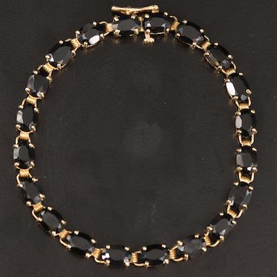 14K Black Onyx Bracelet