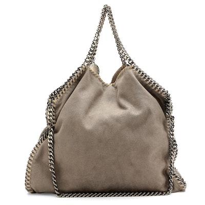 Stella McCartney Gray Shaggy Deer Shoulder Bag
