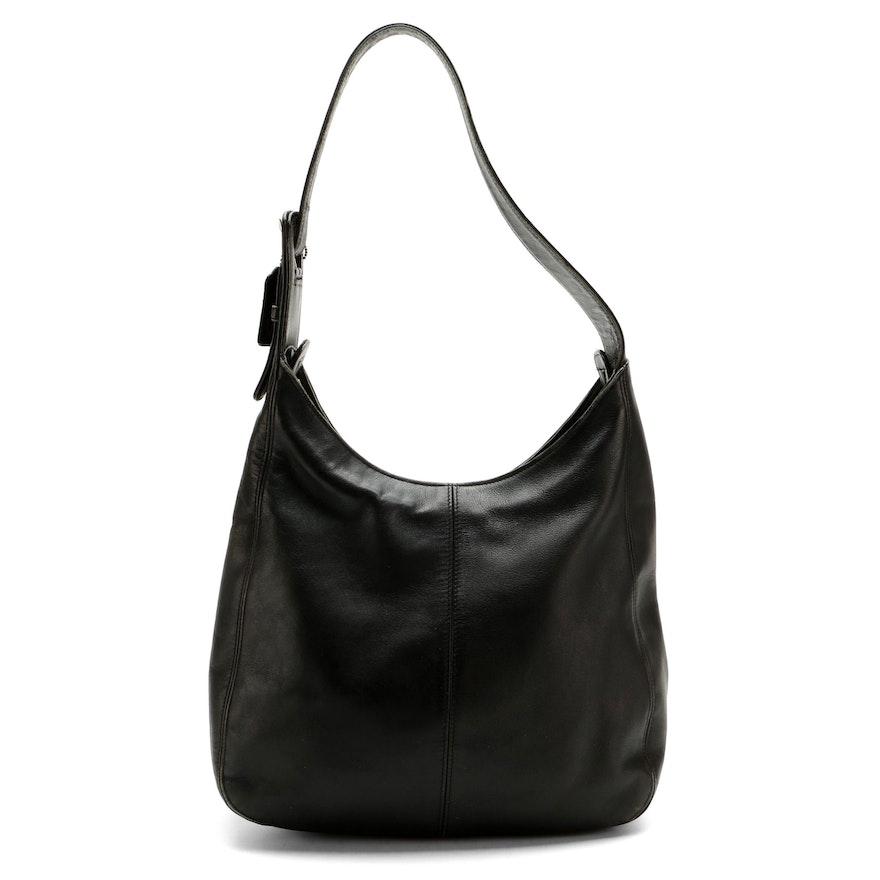 Coach Black Leather Hobo Shoulder Bag