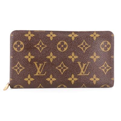 Louis Vuitton Porte Monnaie Zippered Wallet in Monogram Canvas