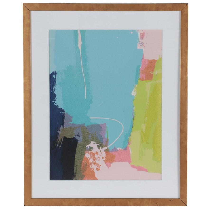 "Abstract Giclée ""Color Splash II,"" 21st Century"