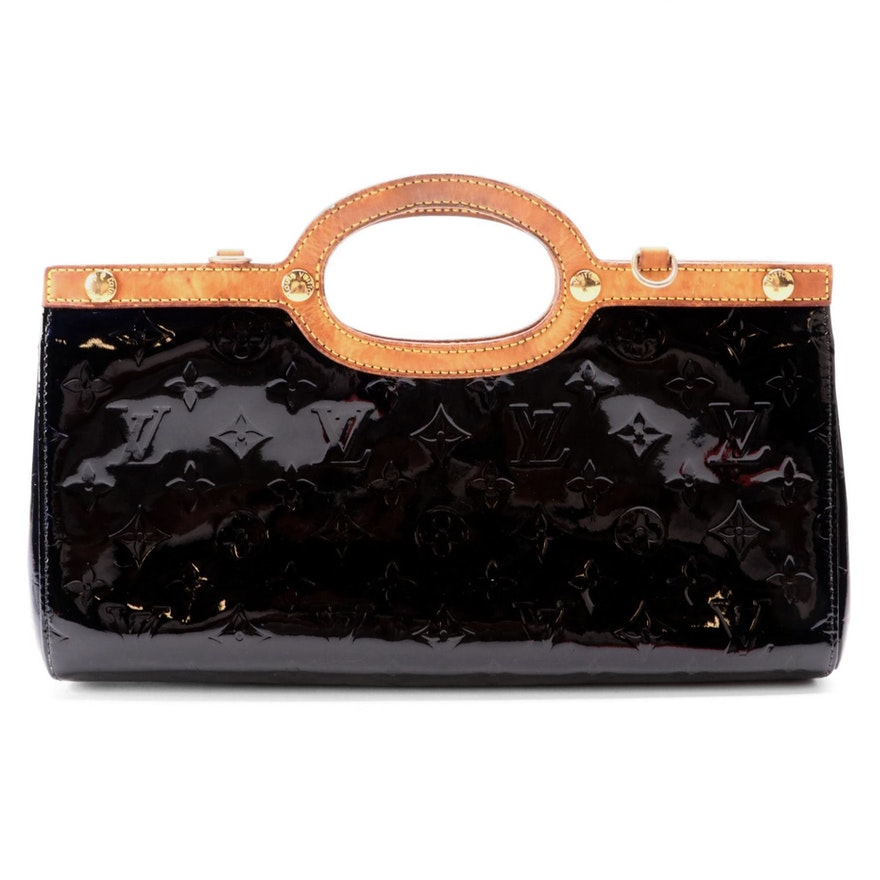 Louis Vuitton Roxbury Drive Handbag in Black Monogram Vernis