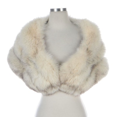 Blue Fox Fur Stole from Yudofsky Furriers