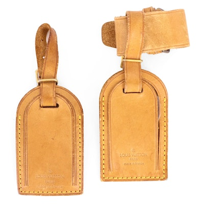 Louis Vuitton Poignet and Luggage Tags in Vachetta Leather