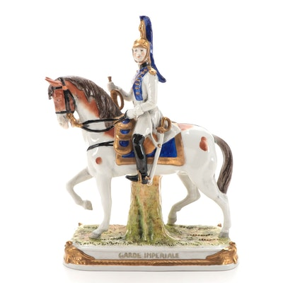 """German Kistner """"Garde Imperiale"""" Porcelain Figurine, Early to Mid 20th Century"""