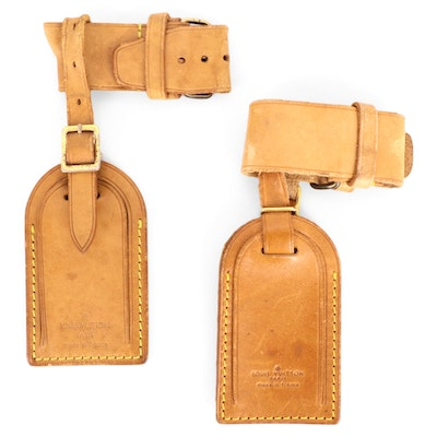 Louis Vuitton Poignet and Luggage Tag Sets in Vachetta Leather
