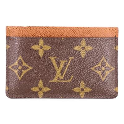 Louis Vuitton Porte Cartes in Monogram Canvas and Taïga Leather