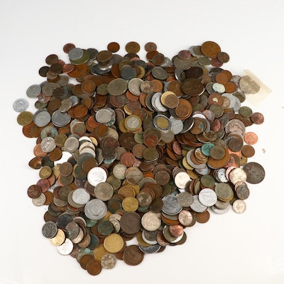 Large Assortment of Foreign and U.S. Coins