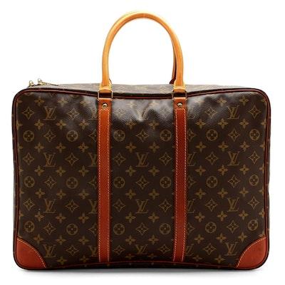 Louis Vuitton Sirius 45 Soft Travel Case in Monogram Canvas with Leather Trim