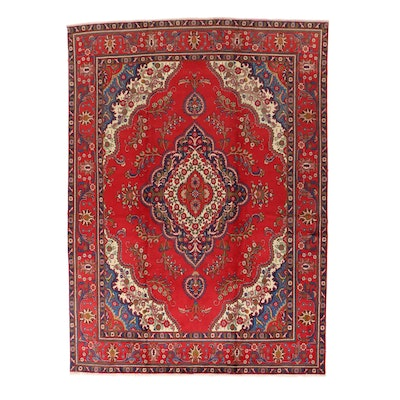 9'3 x 13' Hand-Knotted Persian Tabriz Room Sized Rug