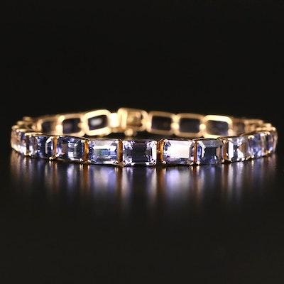 18K Iolite Line Bracelet