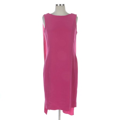 Nipon Boutique Sleeveless Sheath Dress with Draped Accents