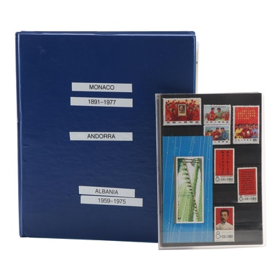 Unused European Stamp Collection and Mint Chinese Commemorative Stamps
