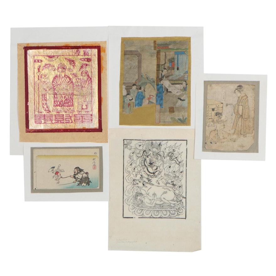 Chôkôsai Eishô Bijin-ga Woodblock and Other East Asian Works