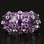Sterling Silver Amethyst and Iolite Ring