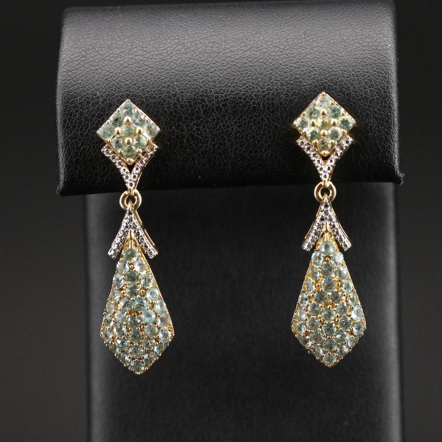 Sterling Apatite Drop Earrings