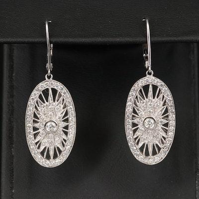 14K 1.36 CTW Diamond Openwork Earrings