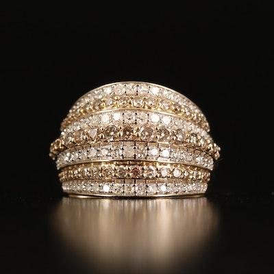 14K 1.52 CTW Diamond Multi-Row Ring