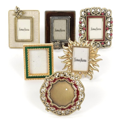 Jay Strongwater, and Other Enameled and Jewel Accented Metal Picture Frames