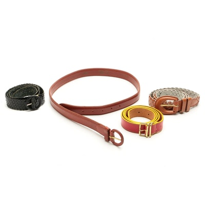 Pierre Cardin Braided Leather with Other Belts