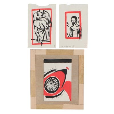 Olga Sanz Casasnovas Ink Wash Drawings, 2019