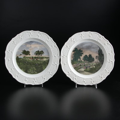 """Delano Studios for Sun Glo Studios """"Currier and Ives Reproductions"""" Plates"""