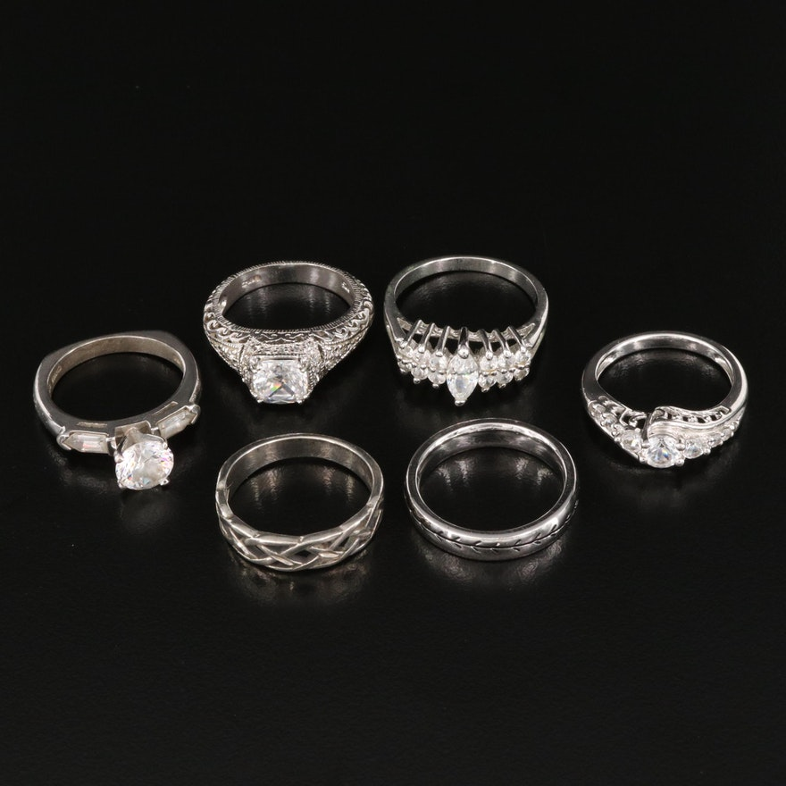 Rings Featuring Sterling, White Sapphire and Cubic Zirconia