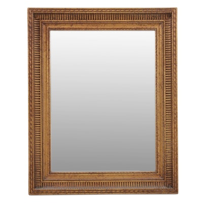Carved and Painted Wood Frame Wall Mirror