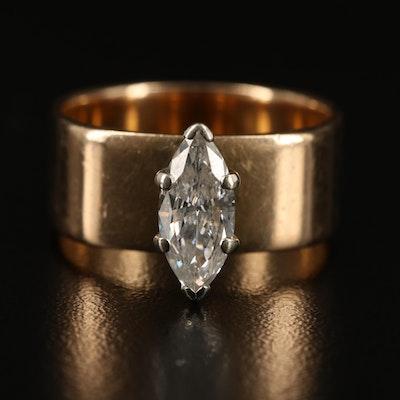 14K 0.86 CT Diamond Solitaire Ring
