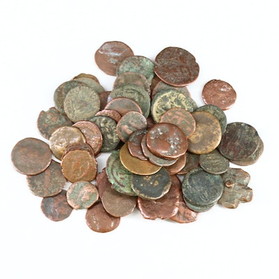 Sixty Ancient Roman Imperial Bronze Coins