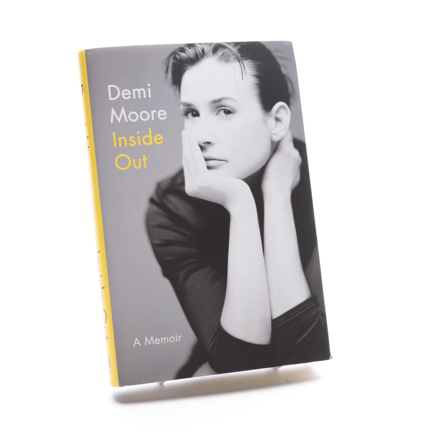 """Signed First Edition """"Inside Out"""" by Demi Moore, 2019"""
