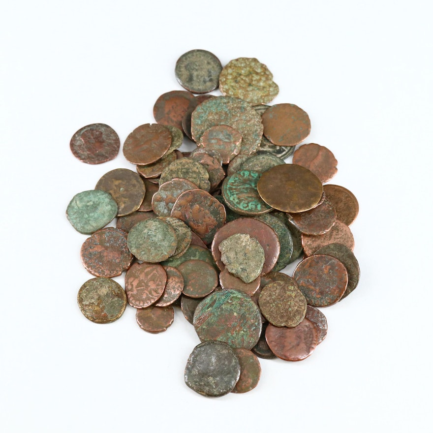 Eighty Ancient Roman Imperial Bronze Coins