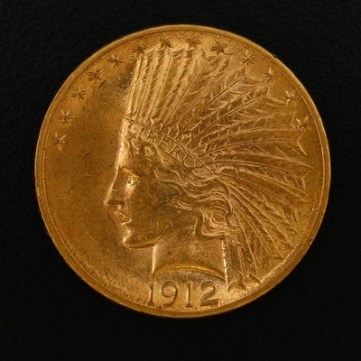 1912 Indian Head $10 Eagle Gold Coin