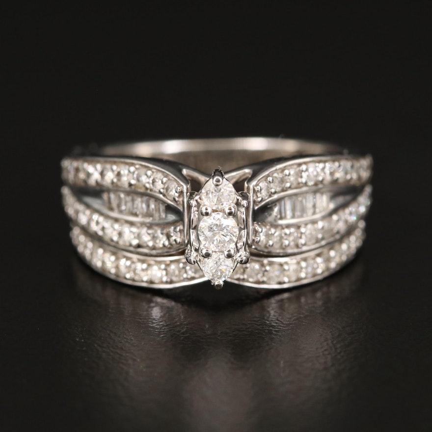 14K 1.00 CTS Diamond Ring