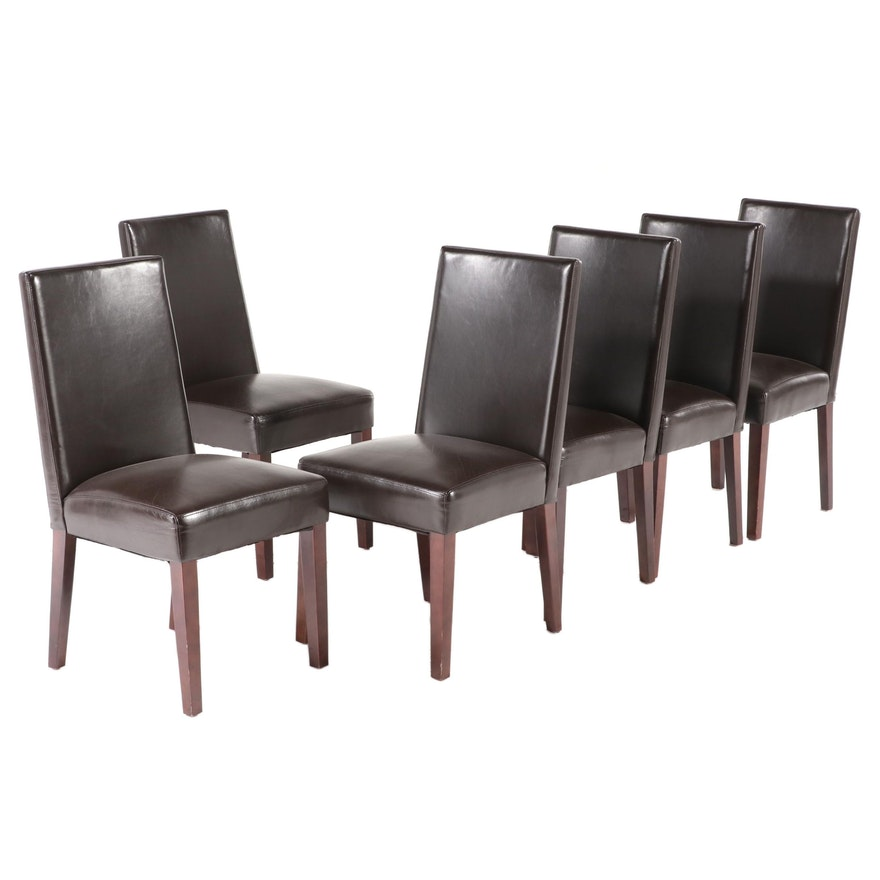 Six Master World Co. Faux-Leather Dining Side Chairs