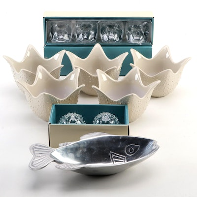Pottery Barn Glass Sea Urchin Shakers, Plastic Crab Place Card Holders and More