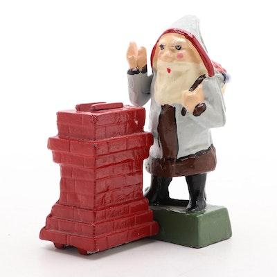 Santa Claus Cast Iron Coin Bank