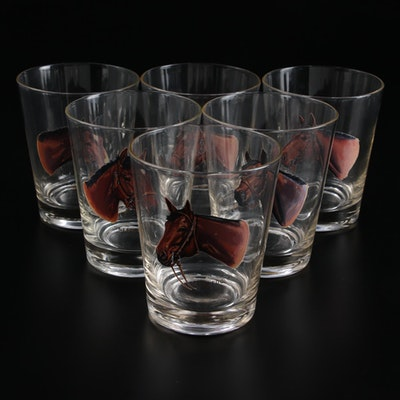 Sintzenich Drinking Glasses Depicting Champion Racehorses