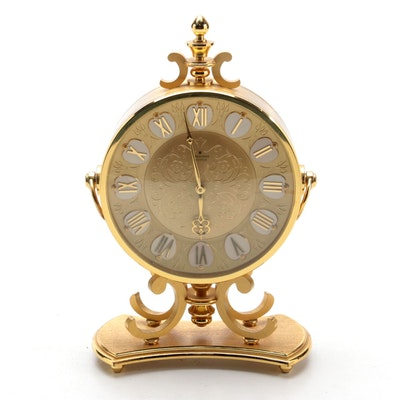 Junghans Meister Brass Cased Shelf Clock, Mid to Late 20th Century
