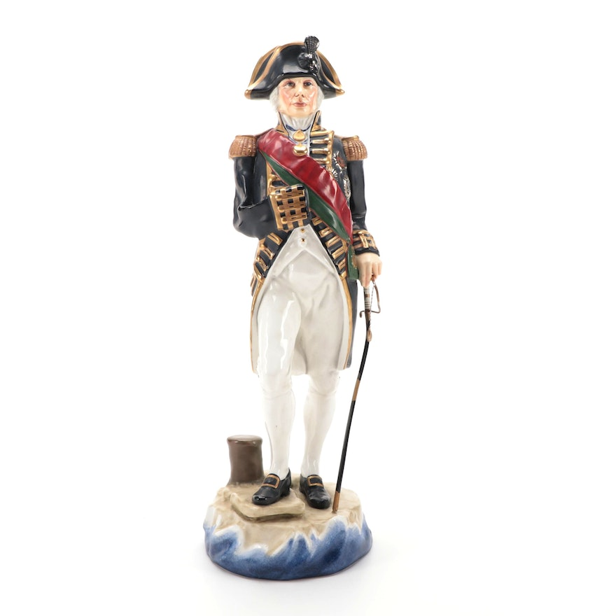 """Michael Sutty """"Lord Nelson"""" Limited Edition Porcelain Figurine"""