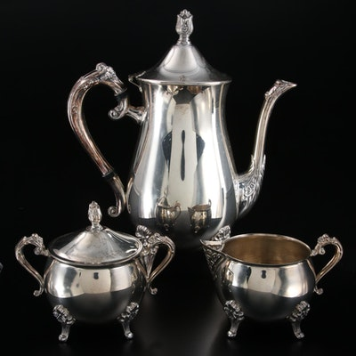 Leonard Silver Plate Coffee Service, Late 20th Century