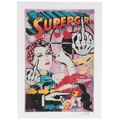 """Denial Pop Art Giclée """"Supergirls,"""" 21st Century"""