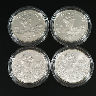 Tiffany & Co. Designed Dolley Madison and Yellowstone Proof Silver Dollars