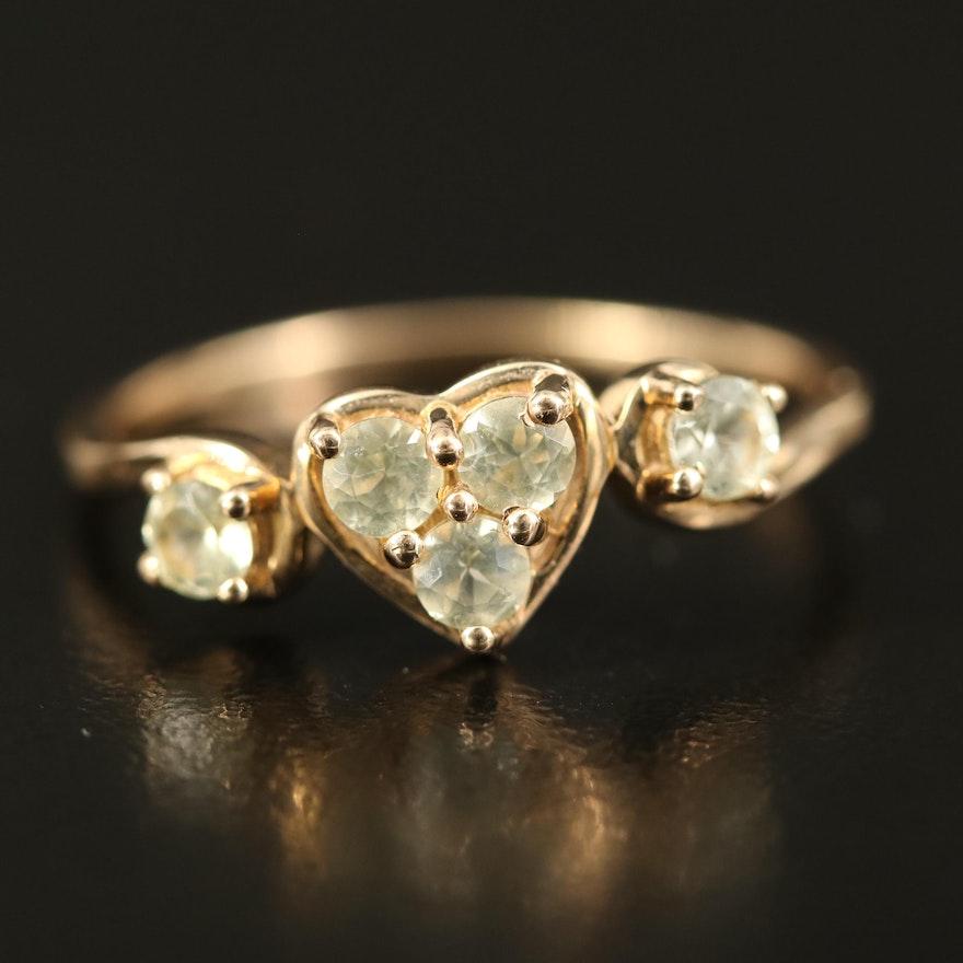 9K Chrysoberyl Heart Ring