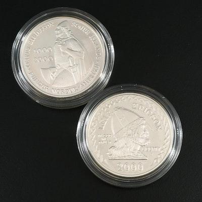 Leif Ericson Commemorative Silver Two-Coin Set