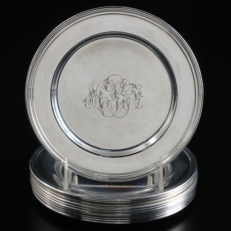 International and Other Sterling Silver Bread & Butter Plates