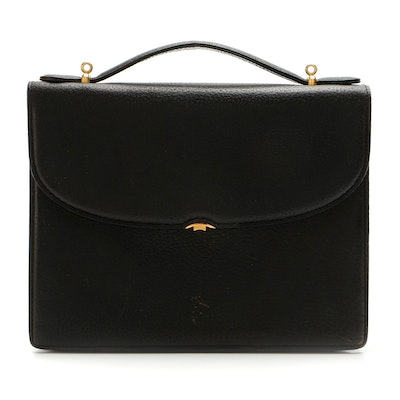 Gucci Top Handle Bag in Black Pigskin Leather