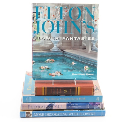 """Elton John's Flower Fantasies"" by Caroline Cass and More Art and Design Books"