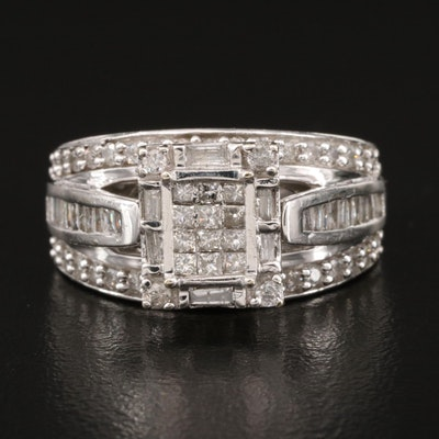 10K 1.01 CTW Diamond Ring