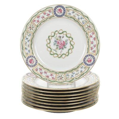 """Haviland Limoges """"Louveciennes"""" Porcelain Plates, 1970s"""